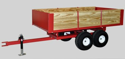 Compact Tractor Wagons Tandem Axle Utility Trailers 2
