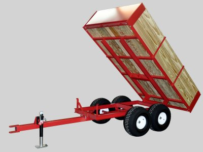 Compact Tractor Wagons | Tandem Axle Utility Trailers 2 ton