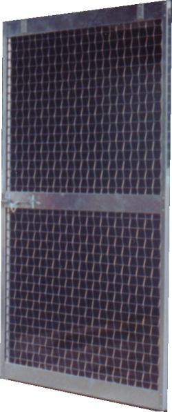 CM4P 4\u0027 x 7\u0027 Mesh Stall Door. Super strong 1/4\  wire mesh and formed 16-gauge framing (door latch and top brackets not included see sliding door hardware ... & Heavy duty steel galvanized mesh horse stalls by Country MFG.